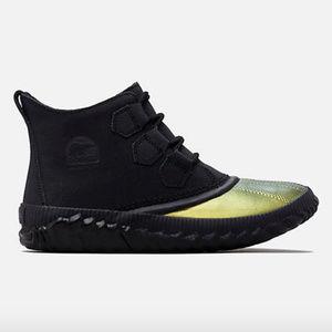 Sorel Out N About Plus Gold Sparkle Snow Boots